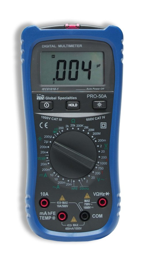 small resolution of global specialties pro 50a handheld digital multimeter discontinued photo