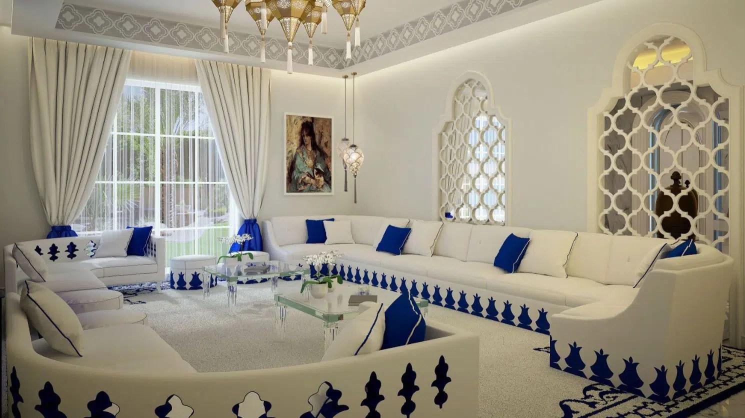 Sedari Marocain Moderne Blanc