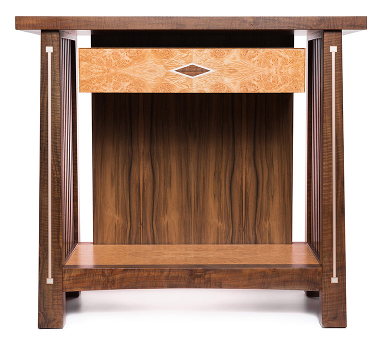 stickley sterling sofa table 70 bed inspired with silver and copper inlay ct fine furniture sticklet front view