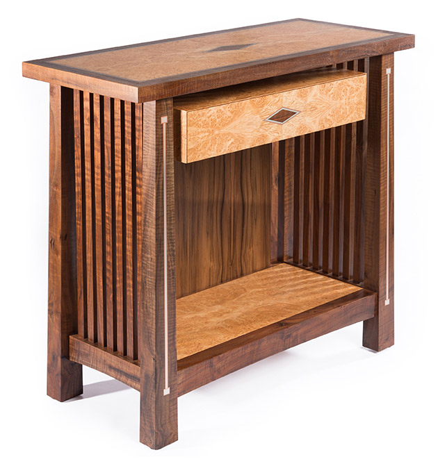stickley sterling sofa table orange inspired with silver and copper inlay ct fine furniture