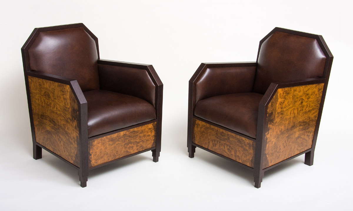 Wood Club Chair Art Deco Club Chairs And Ottoman Ct Fine Furniture