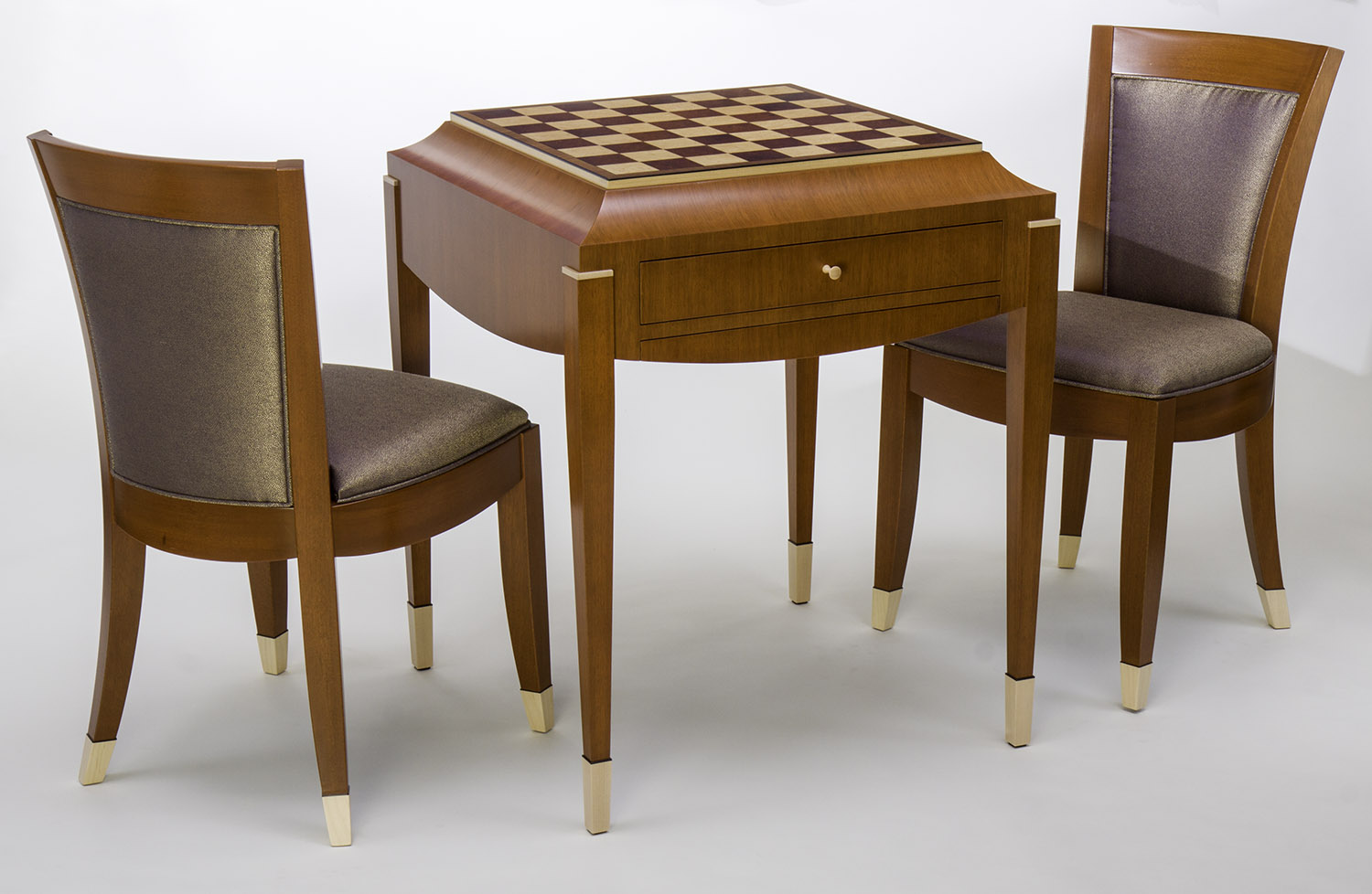Art Deco Chess Table and Chair Set