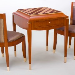 Chess Table And Chairs Saucer Chair Cover Art Deco Set Ct Fine Furniture