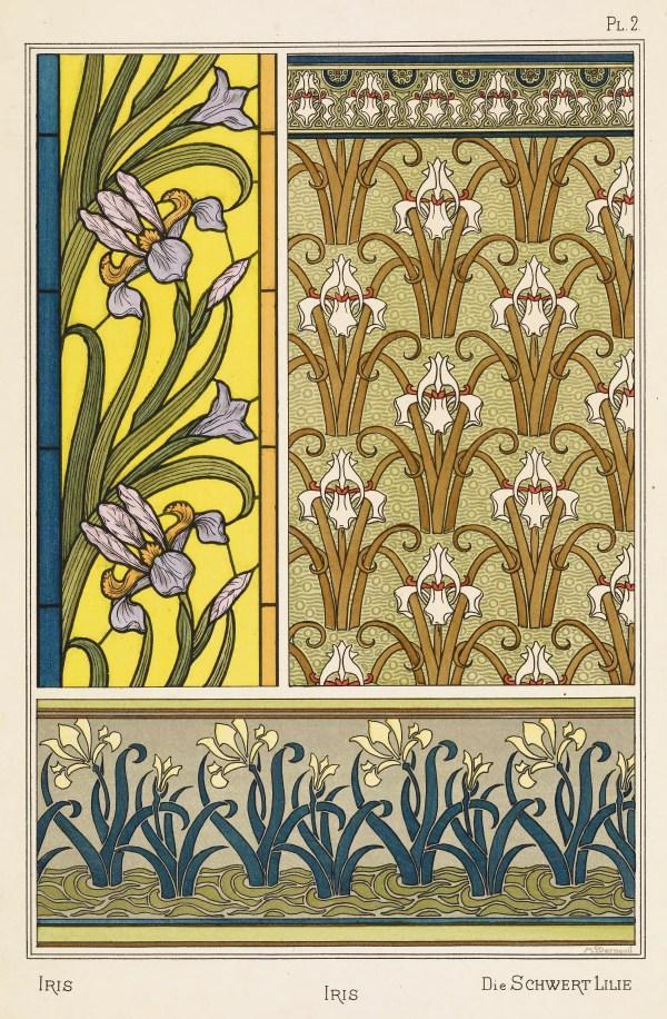 Maurice Pillard Verneuil Art Nouveau Illustration Iris