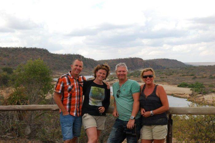 foto van vier personen