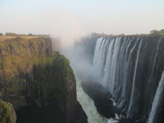Victoria watervallen vanuit Zambia