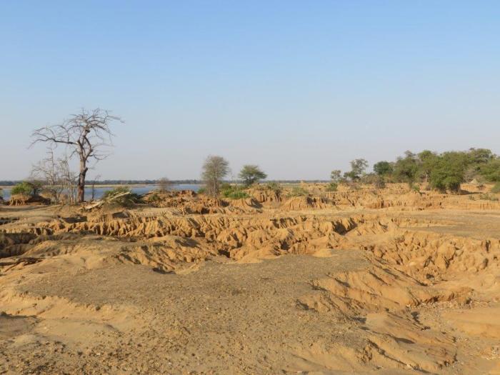 landschap van Lower Zambezi Zambia