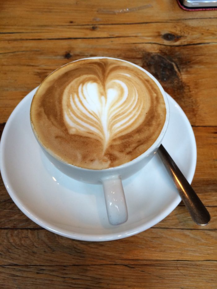 De cappuccino bij Rustic Table