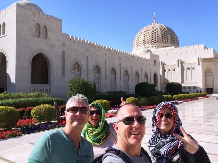 selfie voor de grand mosque