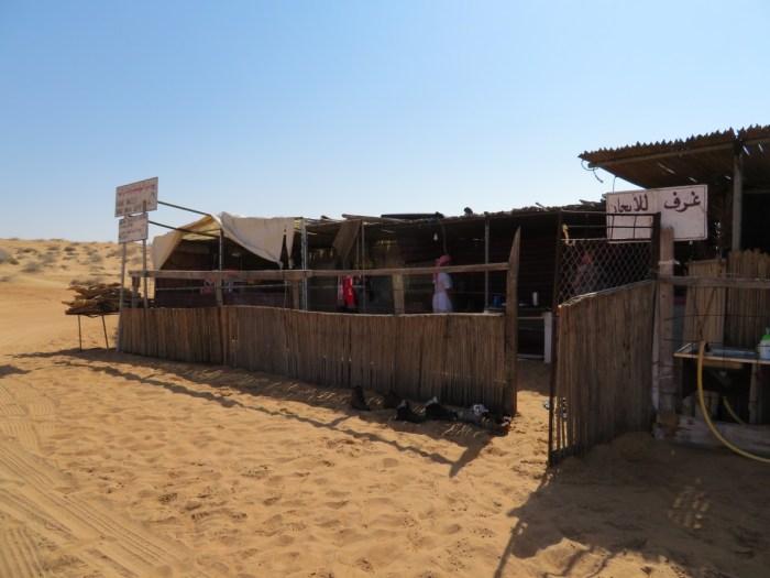 koffietentje in Wahiba Sands