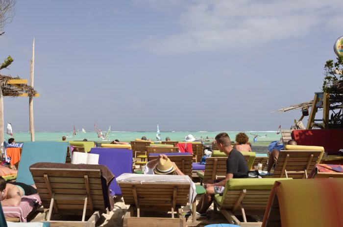 strandbedjes op Jibe City
