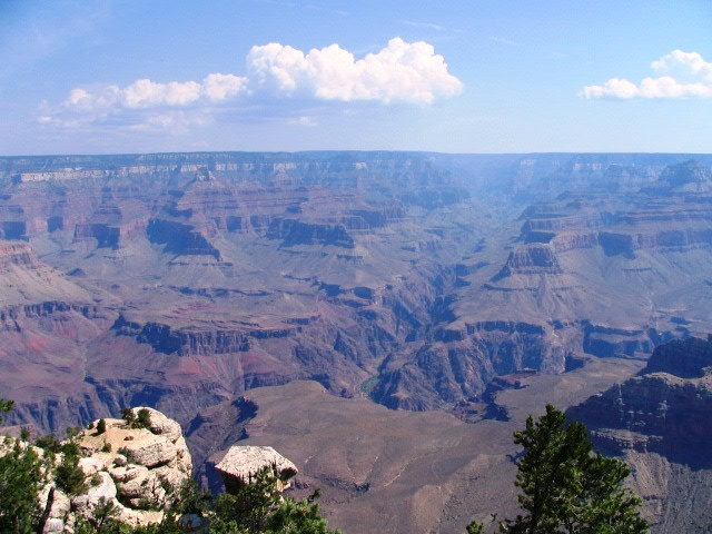 uitzicht over Grand Canyon