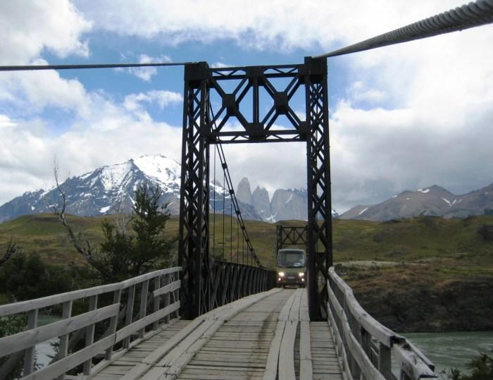 uitzicht op de toppen van Torres del Paine