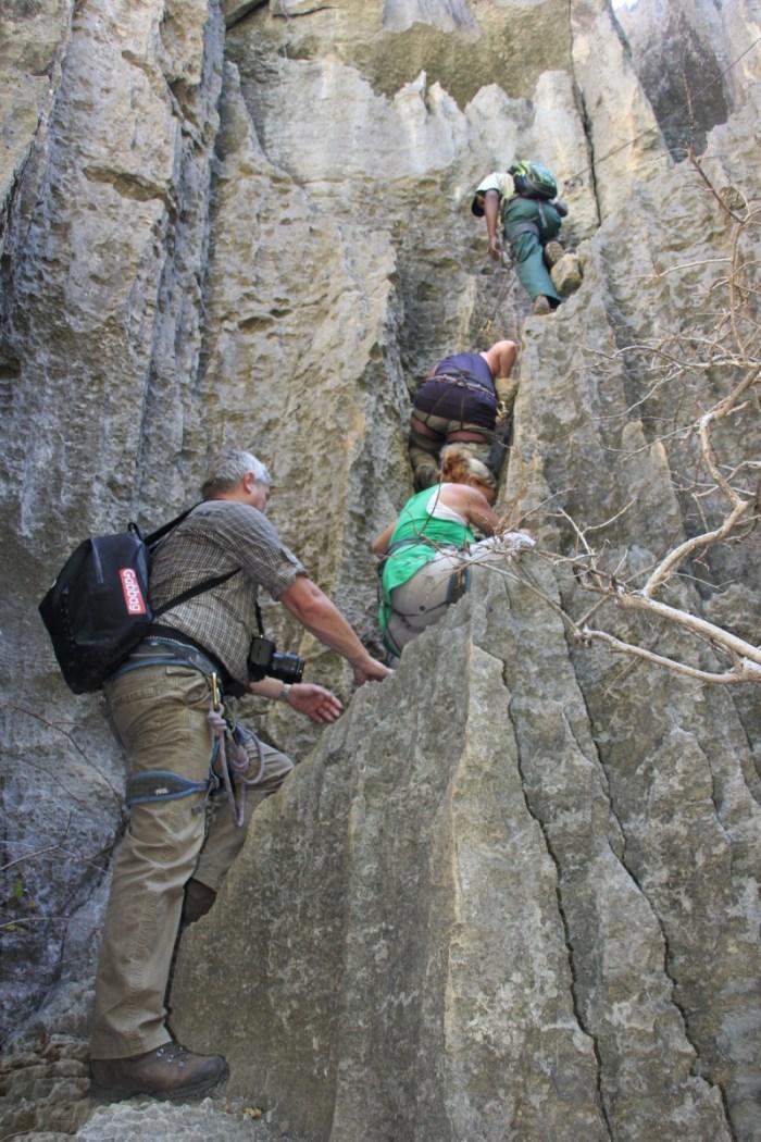 klimmen Tsingy de Bemaraha