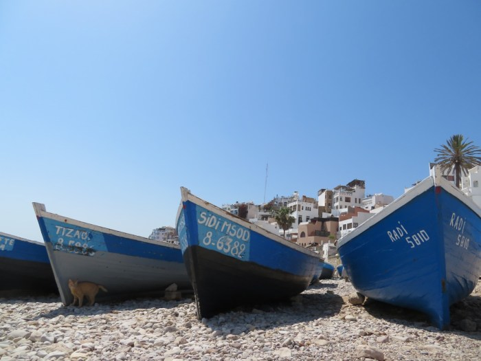 Vissersboten van Taghazout