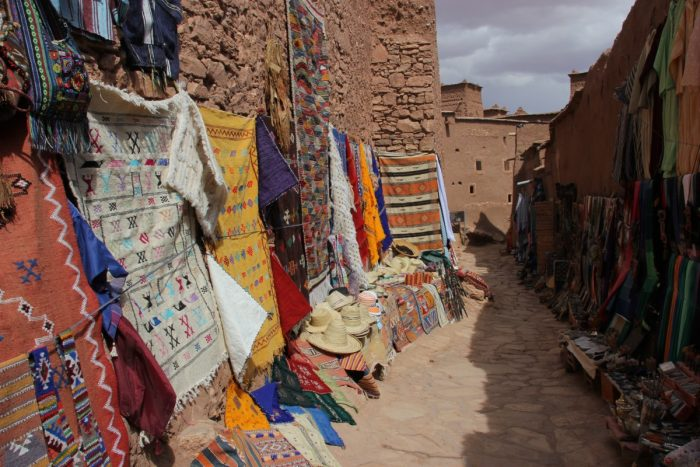 marktstalletjes in ait Benhaddou