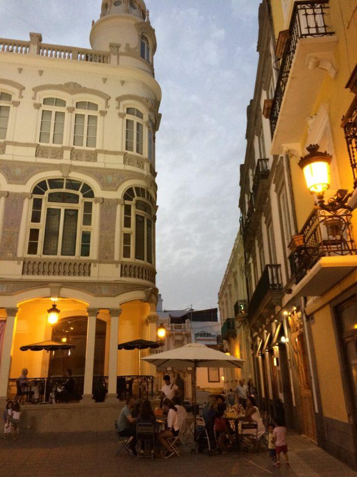 avond in de hoofdstad Las Palmas