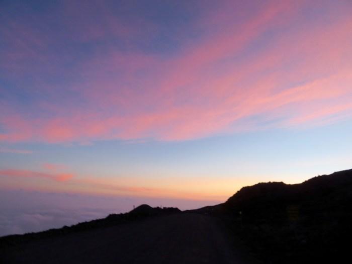 Zonsondergang op Mauna Kea