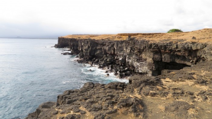 De kliffen van South Point, Big Island