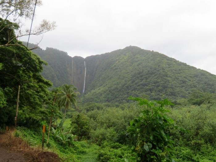 Waterval in Waipio Valley
