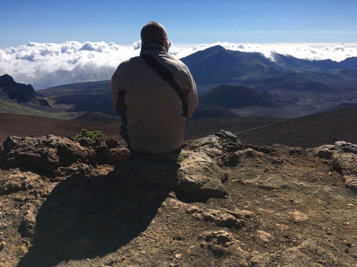 Genieten van de Haleakala vulkaan
