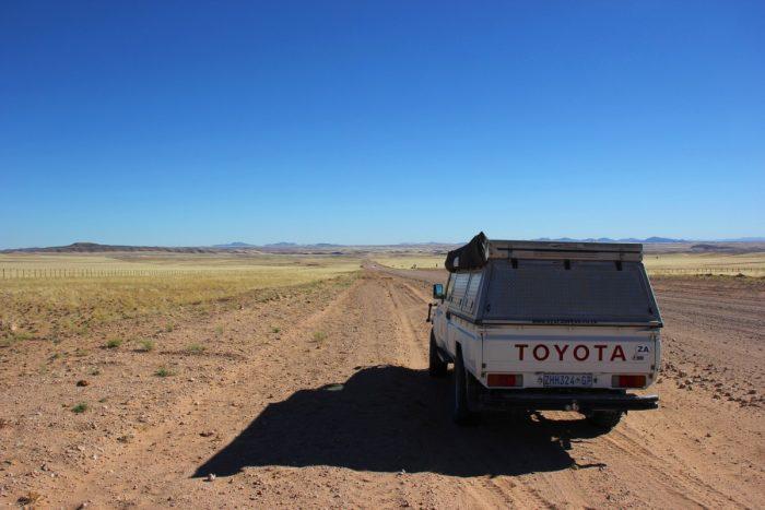 met een jeep door Namibië