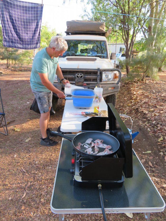 eten koken op de camping