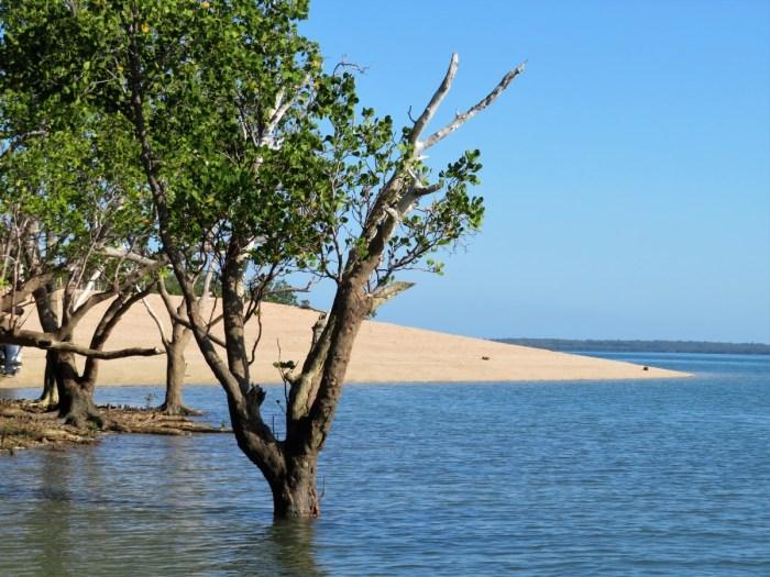 strand van Crab Claw Island