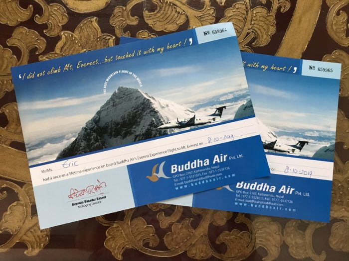 tickets voor vlucht over de mount everest