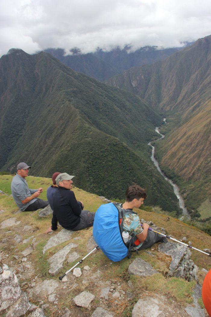 uitzicht Inca-trail