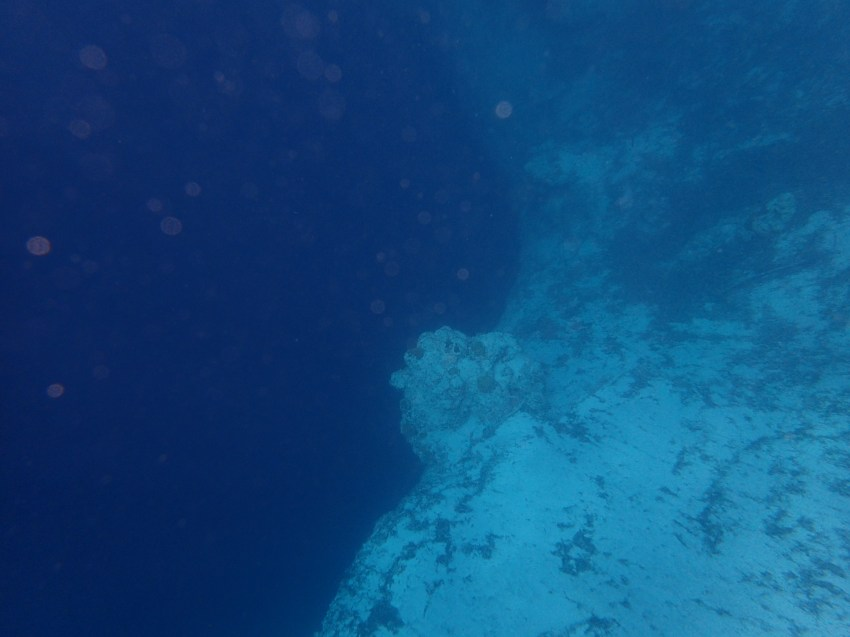 into the blue hole