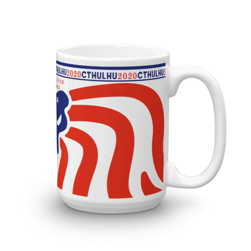 Cthulhu Patriot Mug 15 oz - right view