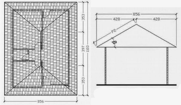 menghitung kebutuhan baja ringan atap jurai cara mudah panjang dan nok cti indonesia