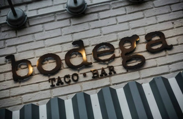 Bodega Taco Bar sign sized