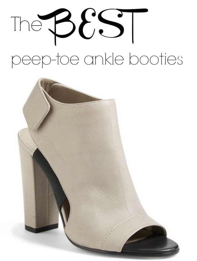 The Best Peep-Toe Ankle Booties