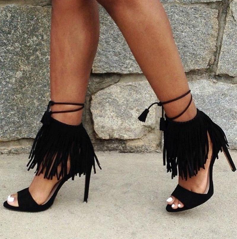 Flirty Fringe Sandals