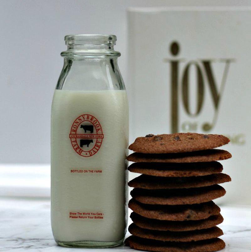 <chocolate cookies and milk image>