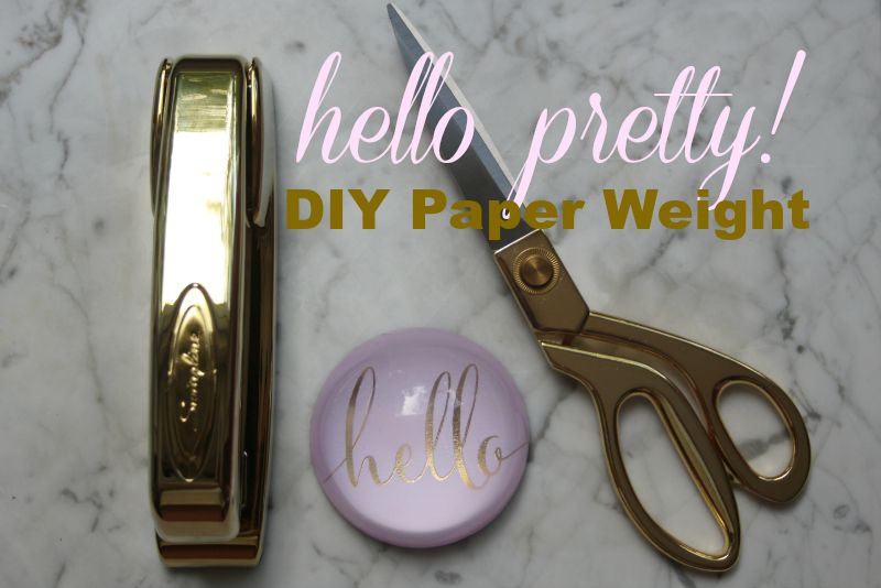 Hello! DIY Paper Weight