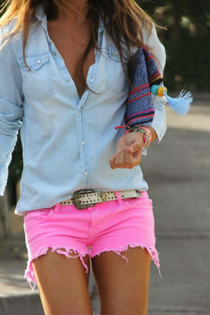 Dressing up Denim Shorts - Connecticut in Style