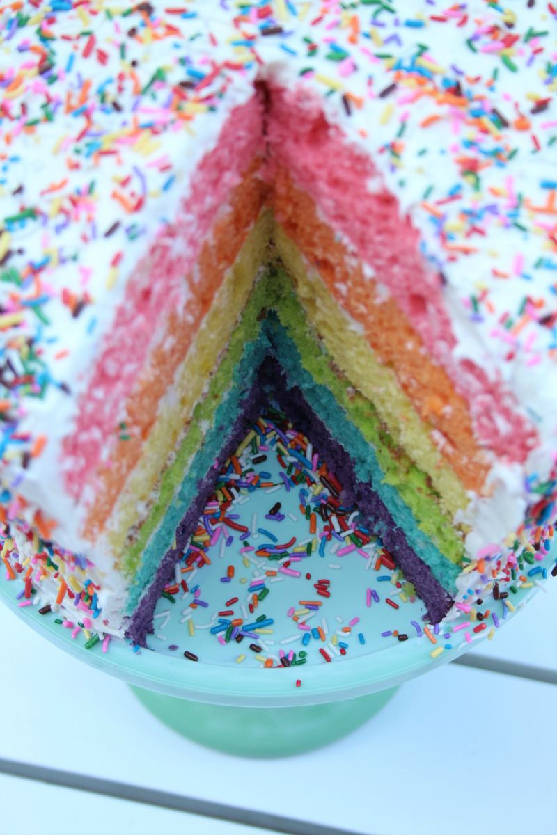 Rainbow cake: recipe, cooking features and reviews 85