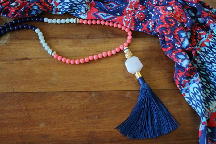 DIY Tassel Necklace finished 2