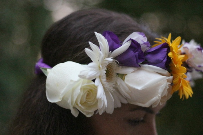 DIY Flower Crown Closeup 2