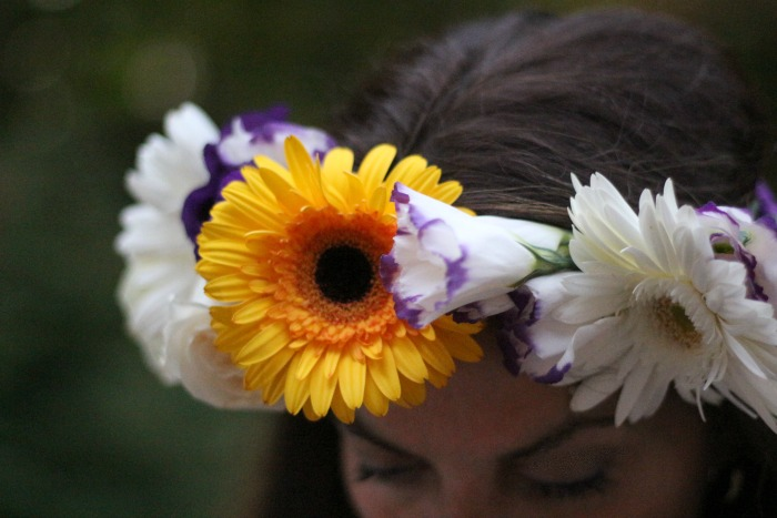 DIY Flower Crown Closeup