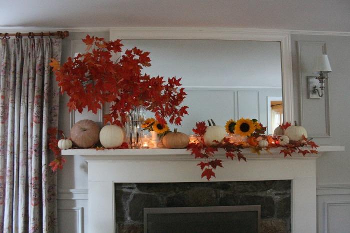 Gorgeous Fall Mantel
