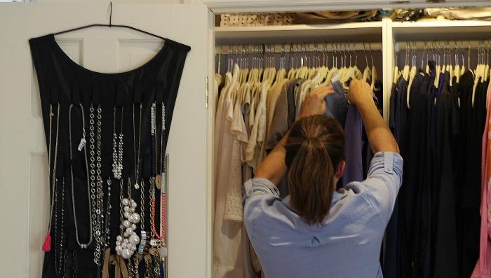 Sarah in Closet