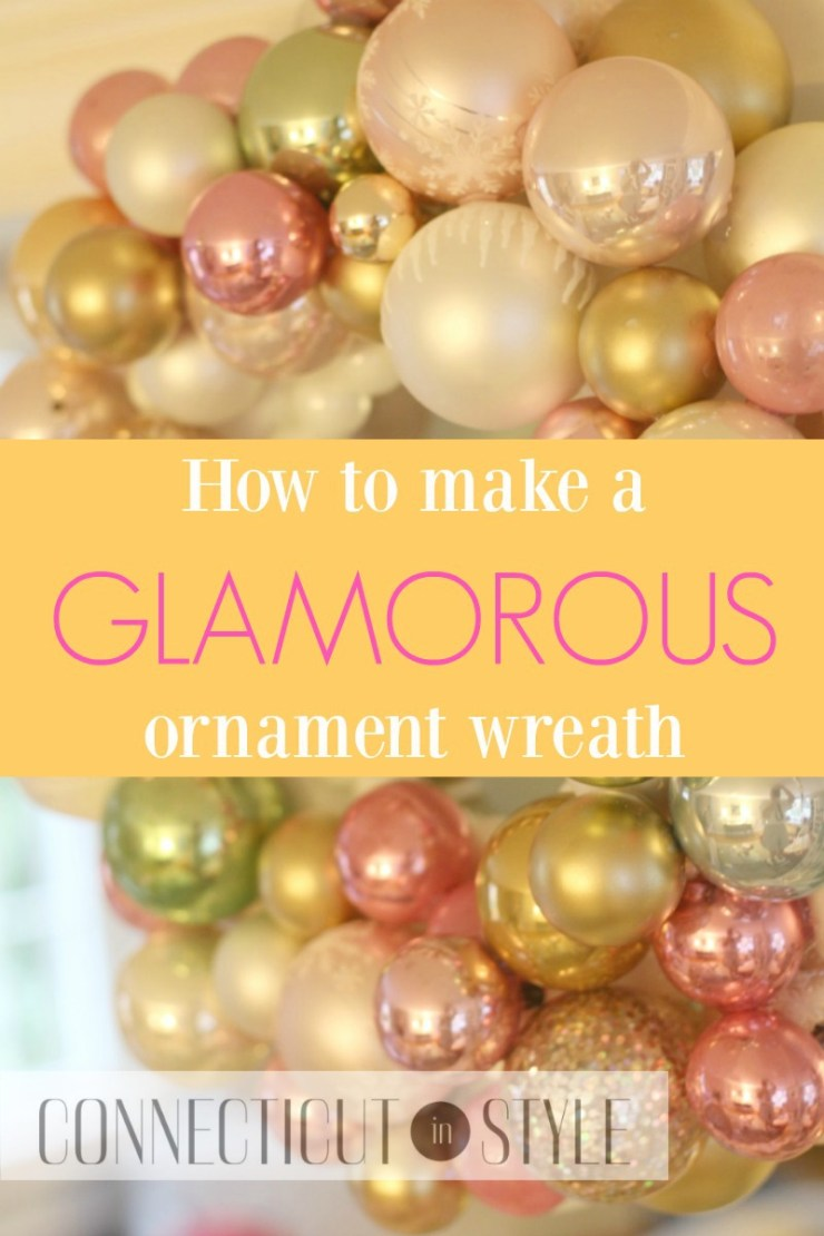 How to make a glamorous ornament wreath by CT in Style