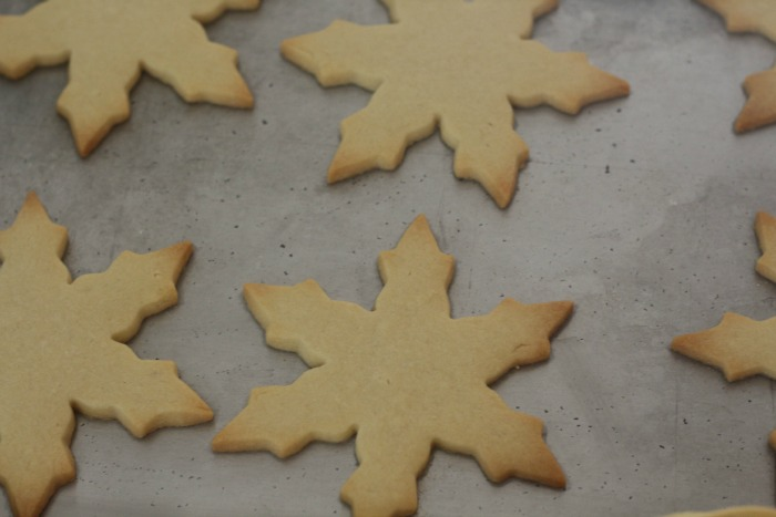 Sugar Cookies on tray
