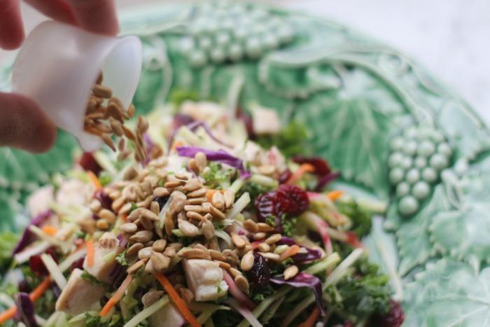 TJ salad with sunflower seeds