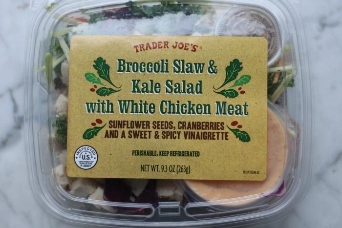 TJ's Broccoli Slaw and Kale Salad packaged