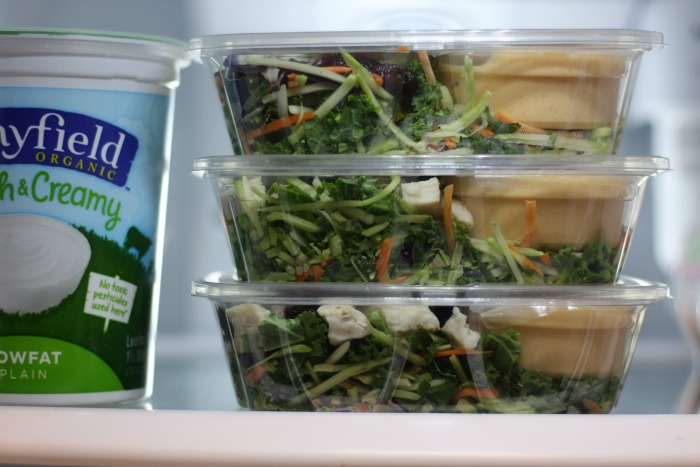 TJs salad in refrigerator